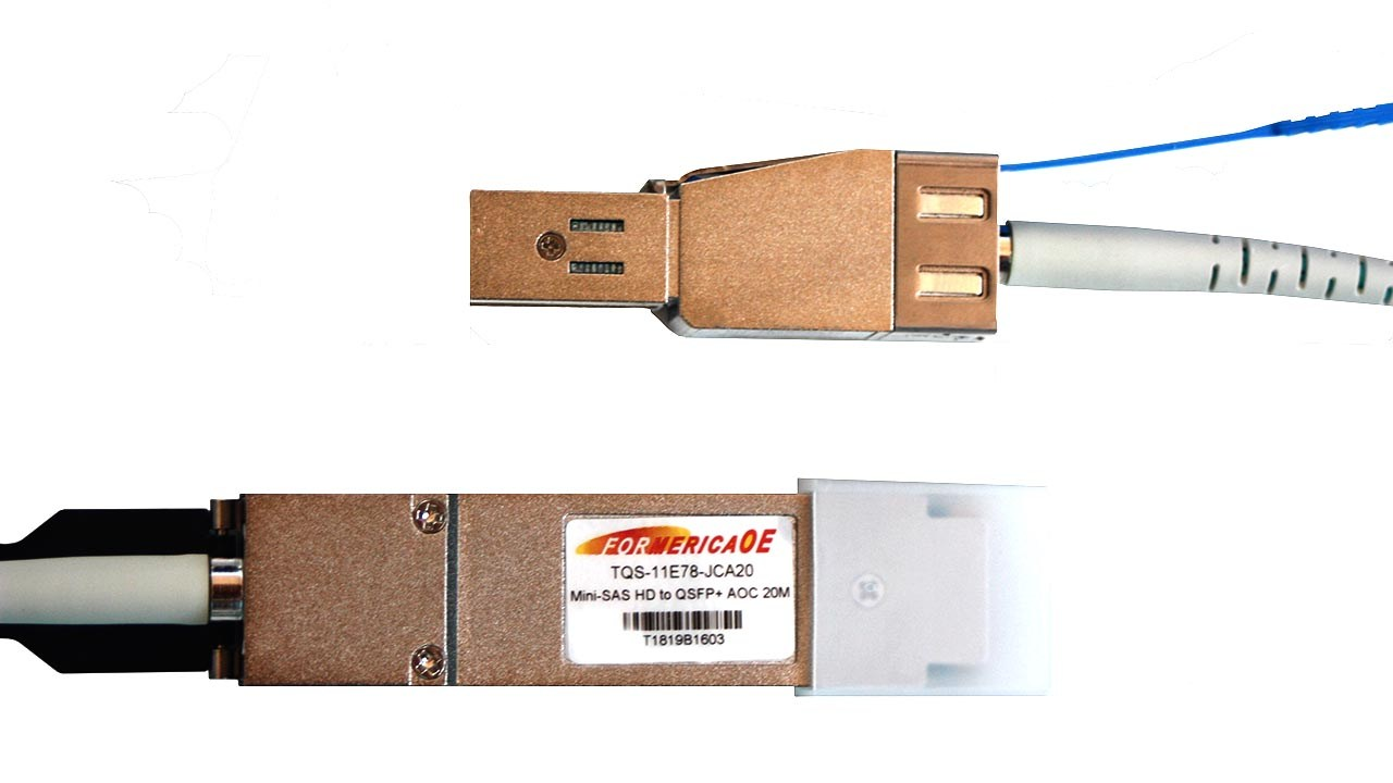 Active Optical Cable 48 GBE Mini-SAS HD to QSFP+ TQS-11E78-JCA20
