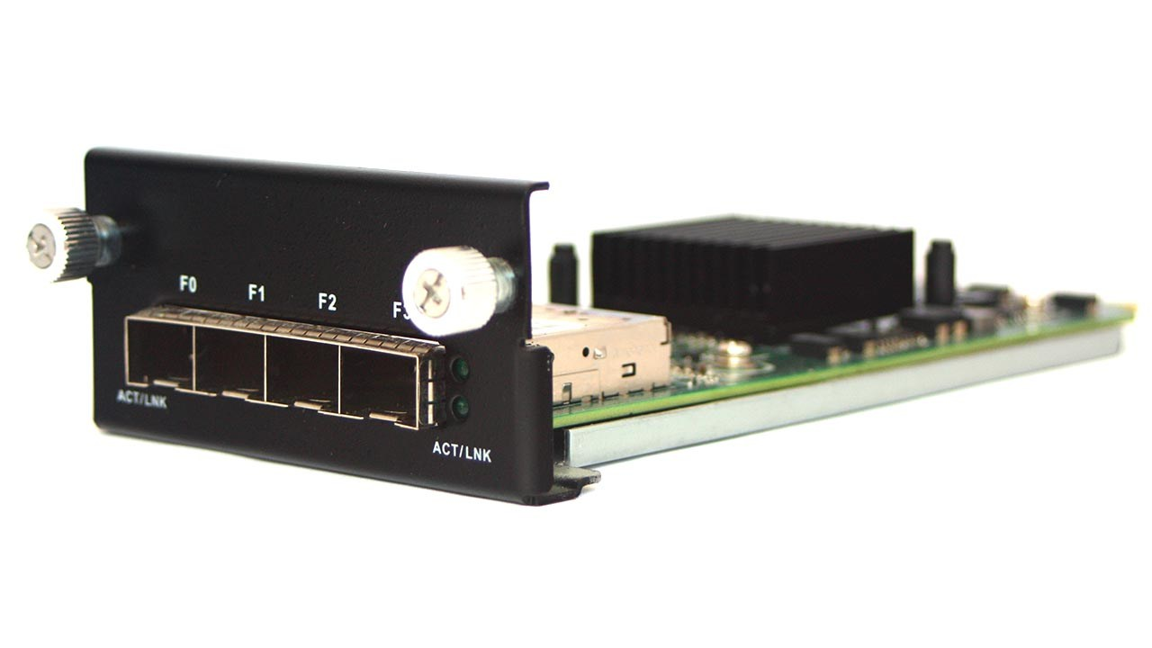 4xSFP Gigabit Ethernet LAN-card IEC-95F4-040